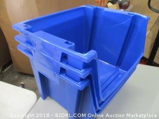 Plastic Storage Bins (Damaged)