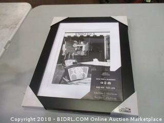Frame 12 x 16in. Matted to 9 x 12