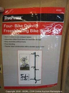 Four-Bike Gravity Freestanding Bike Stand