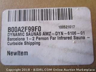 DYNAMIC SAUNAS AMZ-DYN-6106-01 Barcelona 1-2 Person Far Infrared Sauna (Retail $999.00)