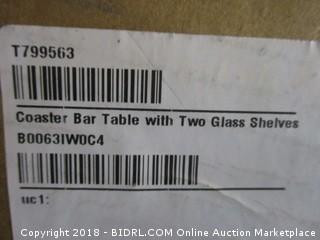Coaster Bar Table with Two Glass Shelves