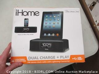 iHome Dual Charge and Play Clock
