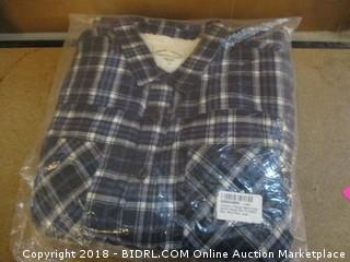 Men's Long Sleeve Flannel Shirt Large
