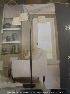 Allen + Roth 3-Light Arc Floor Lamp