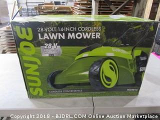 Sunjoe 14 Inch Cordless Lawn Mower