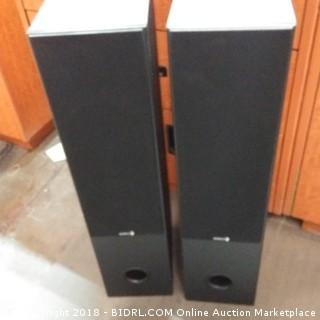 "Dayton Audio Dual 6+=1/0"" 2-Way Tower Speaker Pair with AMT Tweeter - See Pictures"