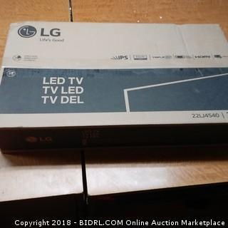 "LG LED TV  22"""