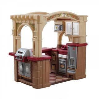 Step2 Grand Walk-in Kitchen and Grill, Brown/Tan/Maroon (Retail $181.00)