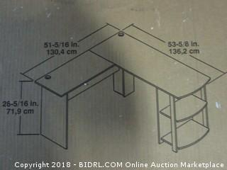 Altra Furniture Ameriwood Home Dakota L-Shaped Desk with Bookshelves (Espresso) (Retail $82.00)