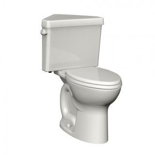 American Standard 270BD001.020 Cadet 3 Right Height Round Front Two-Piece Triangle Toilet with 12-Inch Rough-In, White (Retail $374.00)
