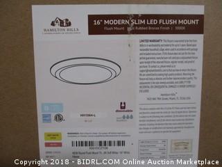 """16"""" Modern Slim LED Flush Mount"""