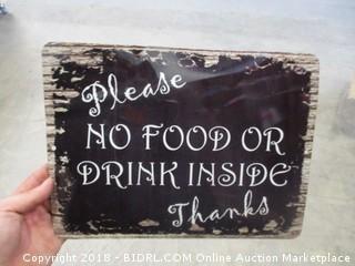 No Food Sign