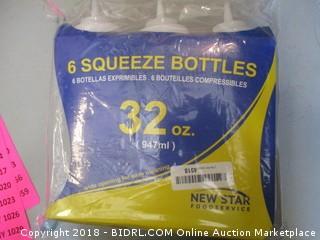 6 Plastic Squeeze Bottles