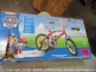 "12"" Bike w/ Training Wheels"