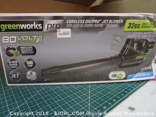 Greenworks Cordless Digipro Jet Blower