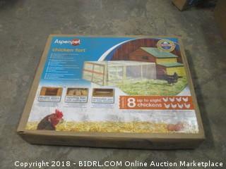 Aspen Pet Chicken Fort High Capacity Coop (Retail $264.00)
