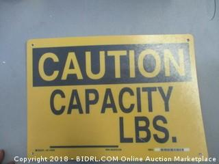 Capacity Sign