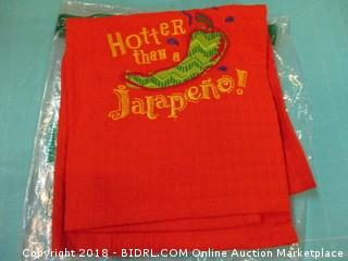 Embroidered Waffle Towel Kitchen