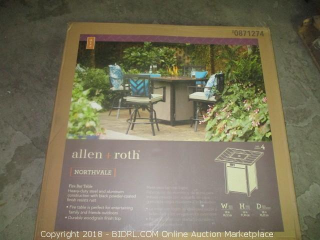 Allen + Roth Fire Bar Table
