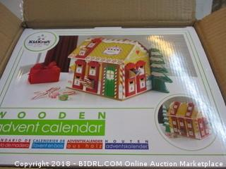 Kids Kraft Wooden Advent  Calendar