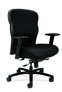 HON Wave Big and Tall Executive Chair - Mesh Office Chair with Adjustable Arms, Black (VL705) (Retail $296.00)