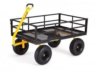 "Gorilla Carts GOR1400-COM Heavy-Duty Steel Utility Cart with Removable Sides and 15"" Tires, 1400-lbs. Capacity, Black (Retail $169.00)"