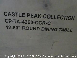 """Intercon Castle Peak Collection 42-60"""" Round Dining Table"""