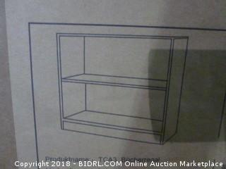 Soges 2 Shelf Storage Cabinet with Back Shelving Unit Cabinet Bookshelf
