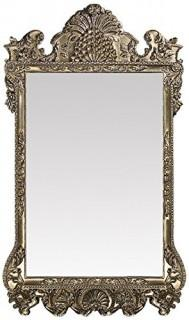 "Howard Elliott Marquette Antique Oversized Mirror, Leaning Wall Ornate Mirror, Full Length, Silver Leaf, 49"" x 84"" x 3"" (Retail $695.00)"