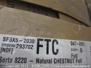 Serta Chestnut Full Futon Mattress   Full