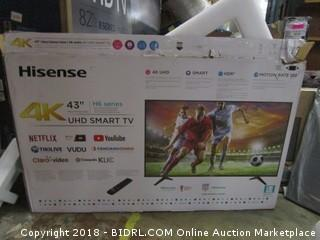 "Hisense 43"" UHD Smart TV  Powers On"