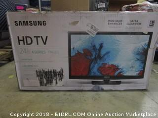 "Samsung HDTV 24""  Powers On"