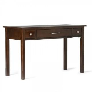 Simpli Home Avalon Solid Wood Office Desk, Rich Tobacco Brown (Retail $197.00)