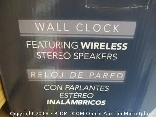 wall clock with speakers