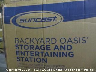 Suncast Backyard Oasis Storage and Entertaining Station
