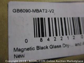 Magnetic Black Glass Dry erase Board Set
