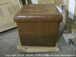 Brown Collapsible Seat or Storage Cube