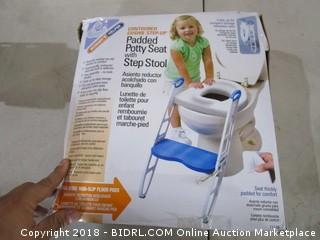 Padded Potty Seat with Step Stool