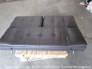 Leather Couch/ Bed
