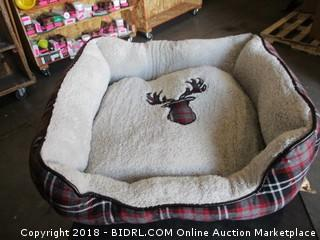 Holiday Plaid Rectangle Pet Bed 25 x 20