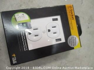 Wall Power Outlet with USB Charging Ports