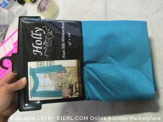faux silk window scarf