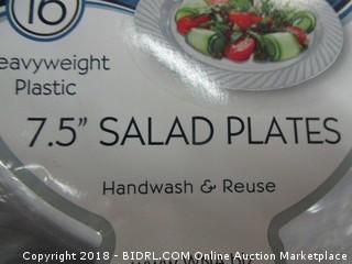 plastic salad plates