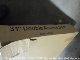 """Outdoor Kitchen 31"""" Double Access Door"""