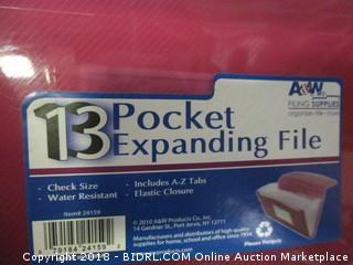 13 Pocket Expanding File