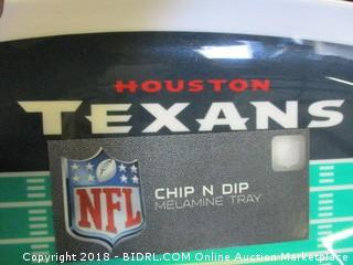 Houston Texans Chips and Dip Tray