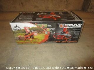 Do-All Outdoors Fowl Play Automatic Clay Pigeon Skeet Thrower Trap, 25 Clay Capacity (Retail $277.00)