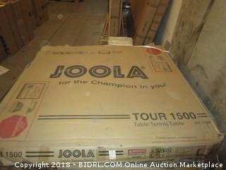 JOOLA Tour Professional Grade Table Tennis Table with Net Set - Features 15-Min Assembly, Playback Mode, Compact Storage (Retail $522.00) - Possible Missing Pieces