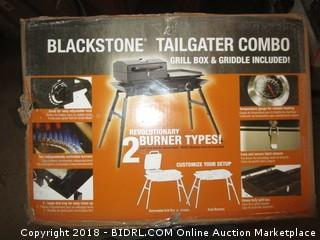 "Blackstone Grills Tailgater - Portable Gas Grill and Griddle Combo - Barbecue Box - Two Open Burners "" Griddle Top - Adjustable Legs - Camping Stove Great for Hunting, Fishing, Tailgating and More (Retail $176.00)"