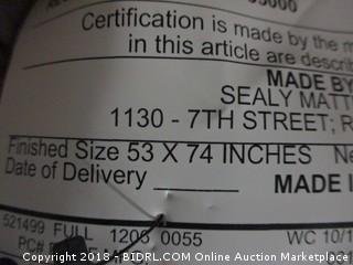 Full Sealy Mattress